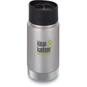Klean Kanteen Wide Vacuum Insulated Bidon Café Cap 2.0 355ml, zilver